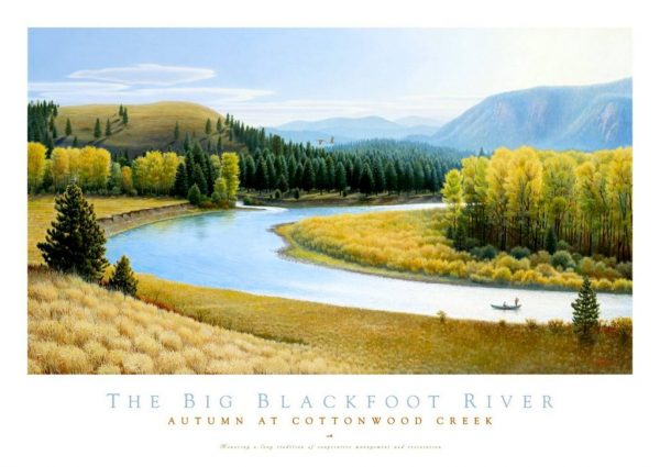 Big Blackfoot River Poster by Monte Dolack